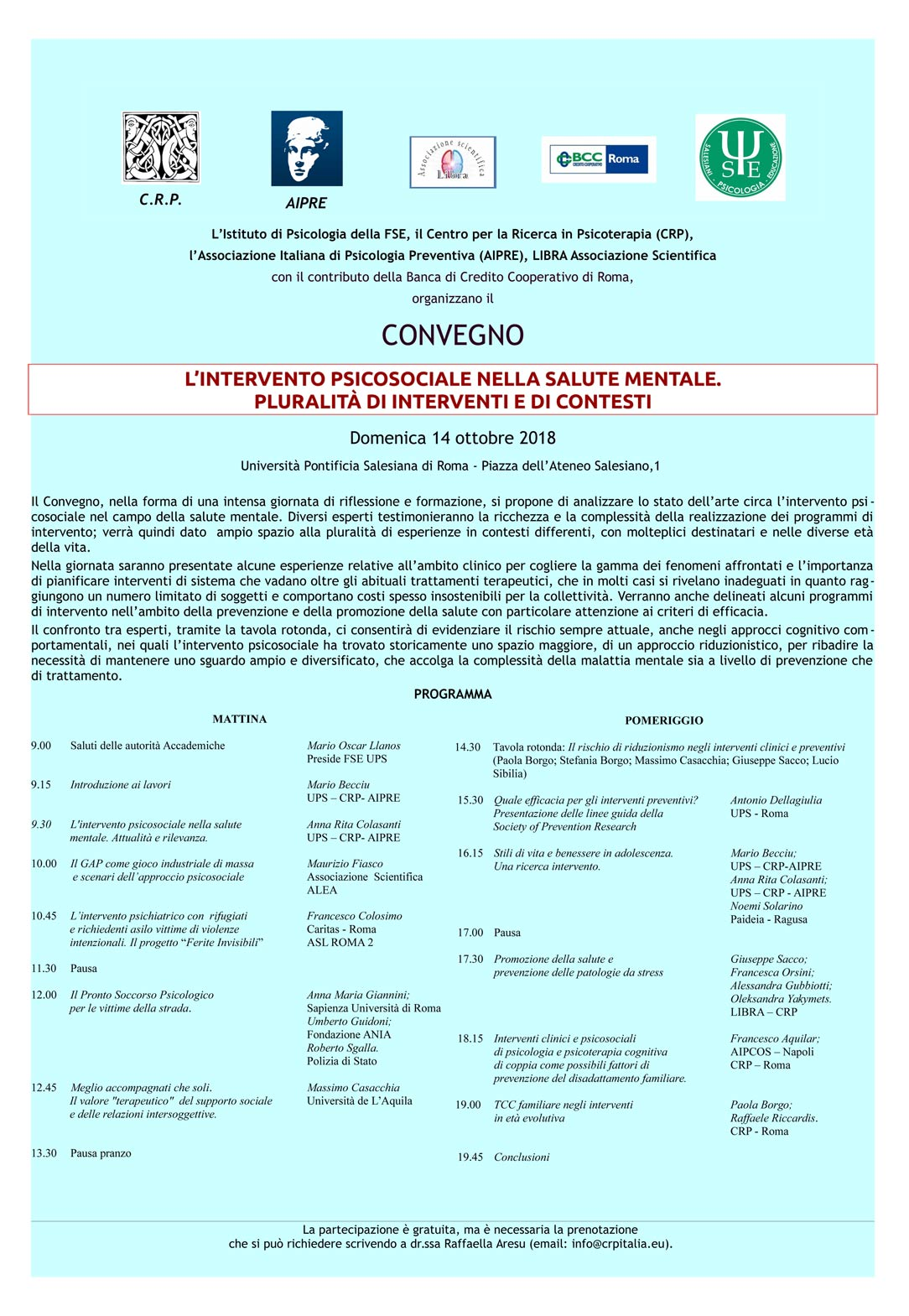 Centro Per La Ricerca In Psicoterapia Formazione Specializzazione Intervento Psicosociale Roma